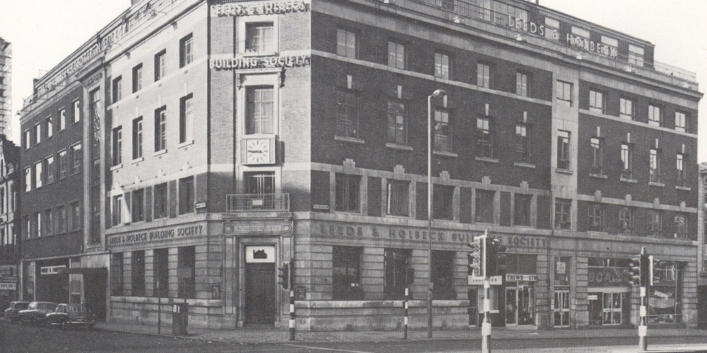 An old photo of LBS Head Office Branch Albion Street, Leeds
