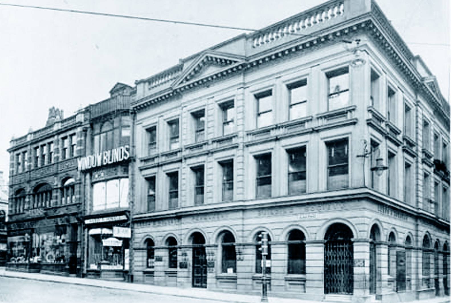 Black and white photo of the Albion Street Head Office