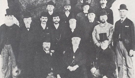 Black and white photo of the first Board of Directors